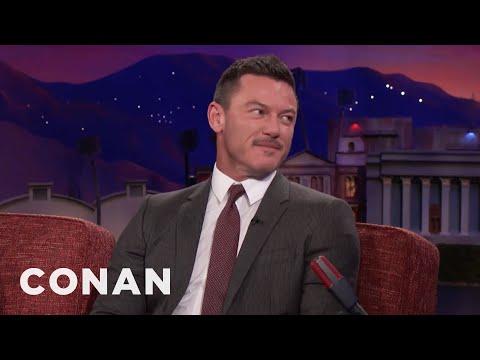 Luke Evans Loves Being A Disneyland VIP   CONAN on TBS