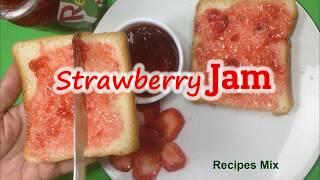Homemade Strawberry jam Recipe | No preservative Strawberry Jam