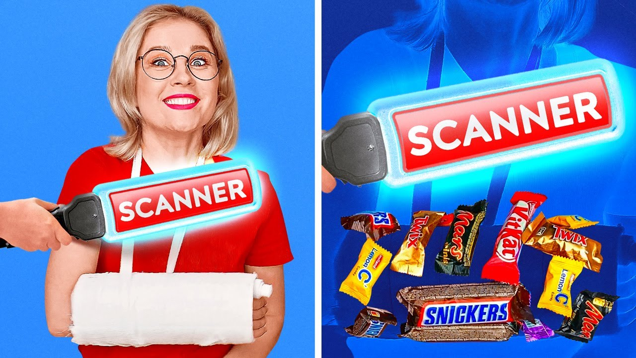 SNEAKY FOOD HACKS    Crazy Tricks To Sneak Food Anywhere You Go