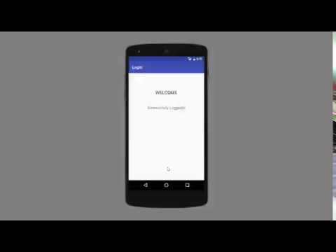 Android PHP MySQL login tutorial using HttpURLConnection demo