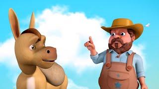 Farmer and the Silly Donkey   Telugu Stories for Children   Infobells