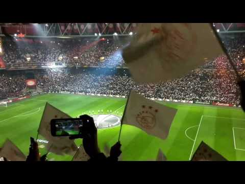 Ajax vs Copenhagen (2-0) pre-match lightshow & player entrance Europa League 16/03/2017