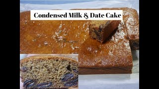 Condensed Milk & Date Sheet cake