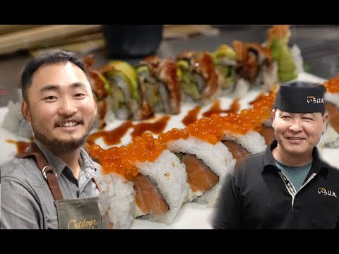 I Went To Teach A Japanese Chef How To Make AMERICAN Sushi