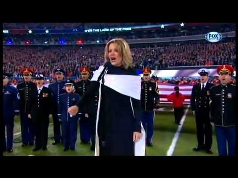 NFL Super Bowl XLVIII 2014 - Renee Fleming sings National Anthem