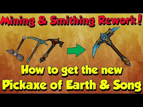 New Pickaxe of Earth and Song! How to Obtain? [Runescape 3] Mining & Smithing Rework!