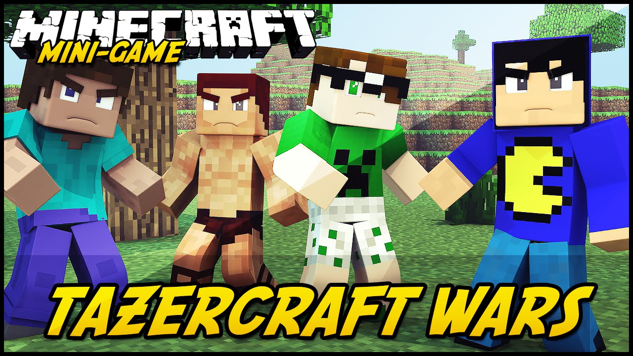 Minecraft Com The Game : Minecraft tazercraft wars mini game youtube