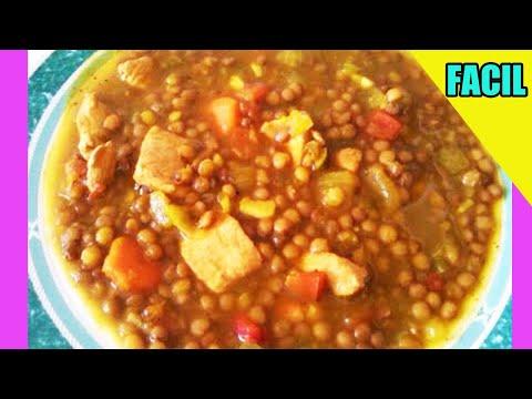 Lentejas Con Pollo Recetas De Cocina Facil Y Rica Youtube