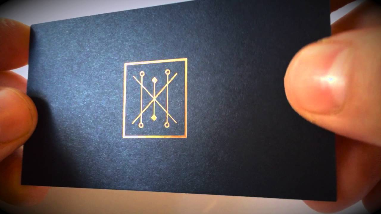 Black Business Cards + Foil Stamping - YouTube