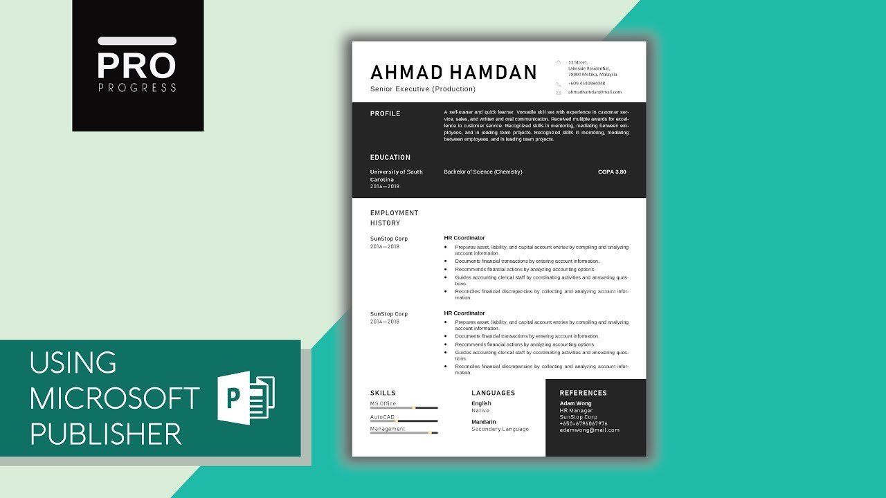 Template Design Tutorial For Resume CV