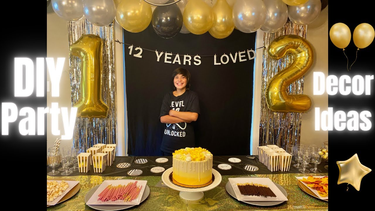 Birthday Party Decoration Ideas For 12 Year Olds Youtube