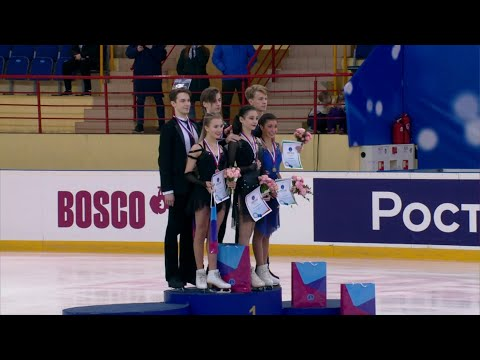 Церемония награждения. Танцы. Первенство России по фигурному катанию среди юниоров 2020