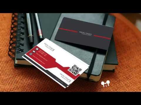 Create the Modern Business Card Red | Black  _ Photoshop CC_2017 Tutorial thumbnail