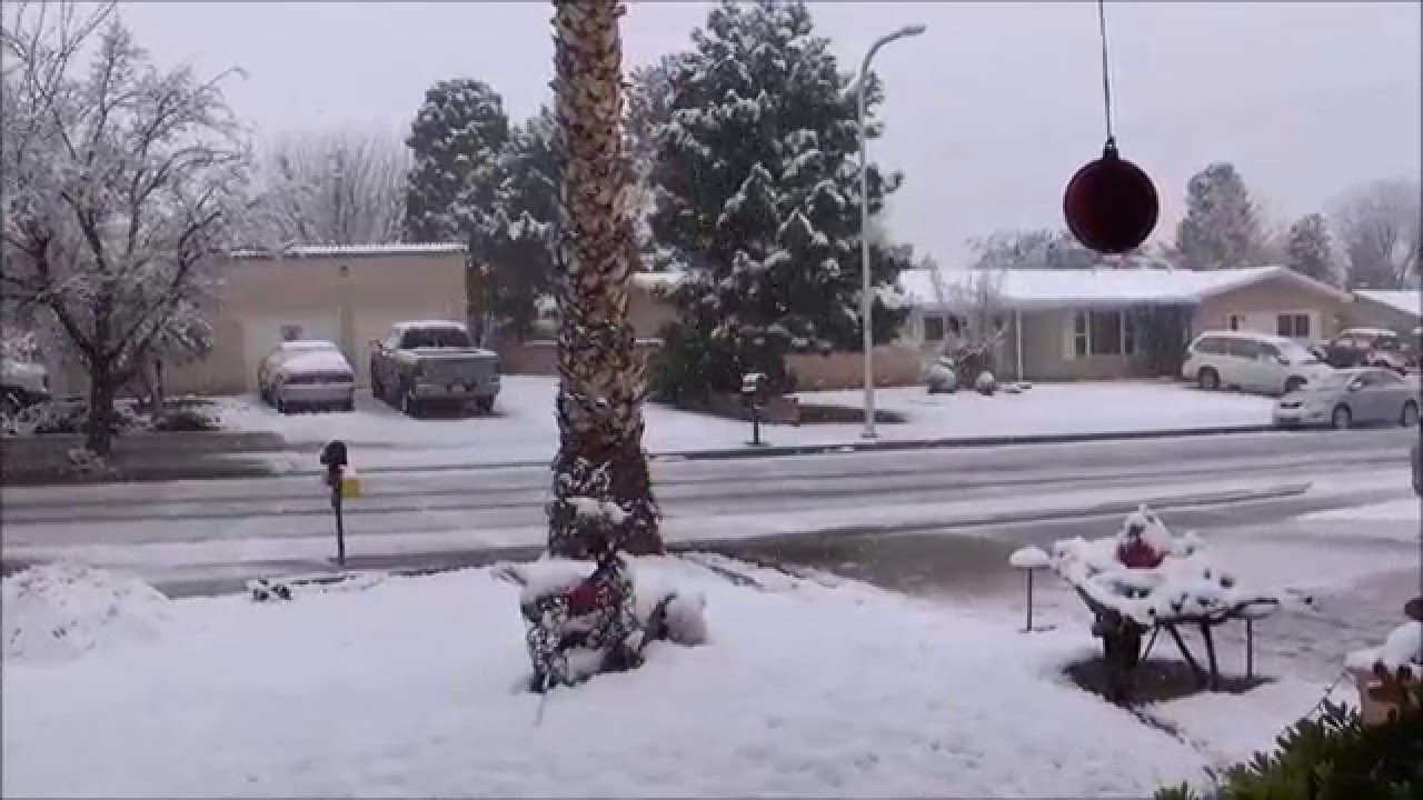 snow in las cruces new mexico december 26th 2015 youtube