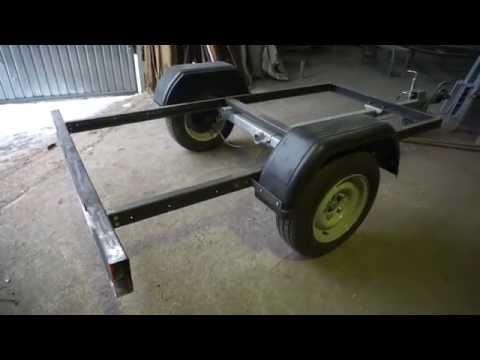 Прицеп рамка с тормозами на 750-1300кг