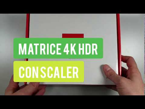 Matrice HDMI®, 4 In - 2 Out 4K@60Hz - Con Scaler - Compatibile HDR