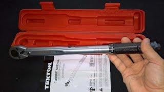 TEKTON Click Torque 3/8 Wrench 10-80 Feet Pound Unpacking Testing