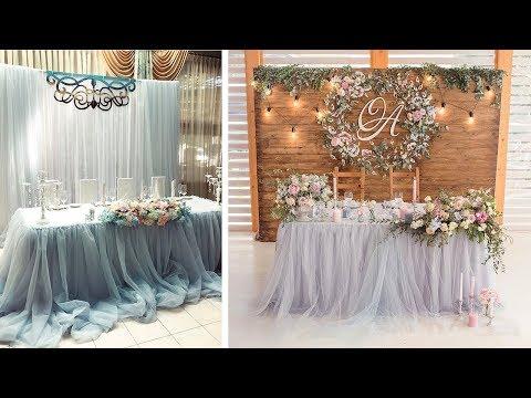 Украшение свадебного стола молодоженов своими руками