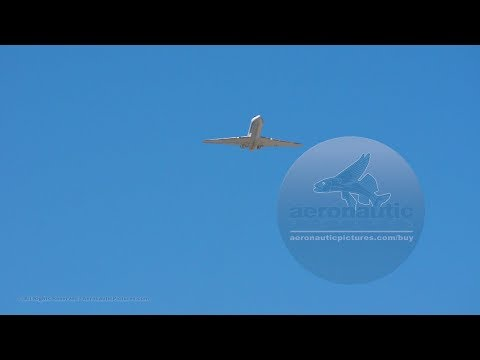 Business Jet Airplane Take Off Stock Video HD   AeronauticPictures.com