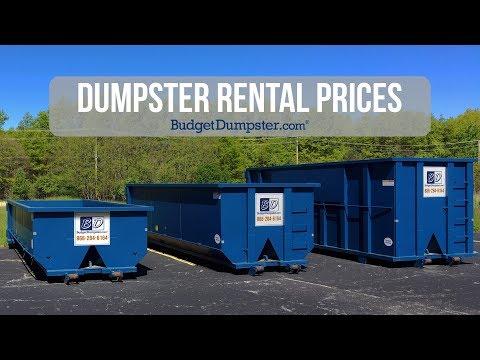 Dumpster Rental Prices | Budget Dumpster