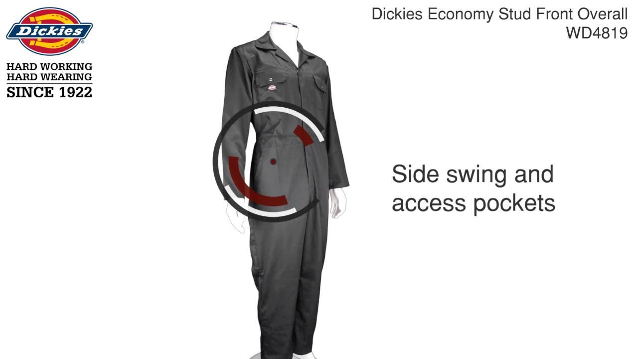 Dickies Redhawk WD4819 Overall Economy mit Druckknopfleiste und vielen Taschen