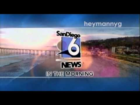 XETV-TDT - Sign-on and San Diego 6 News In the Morning open
