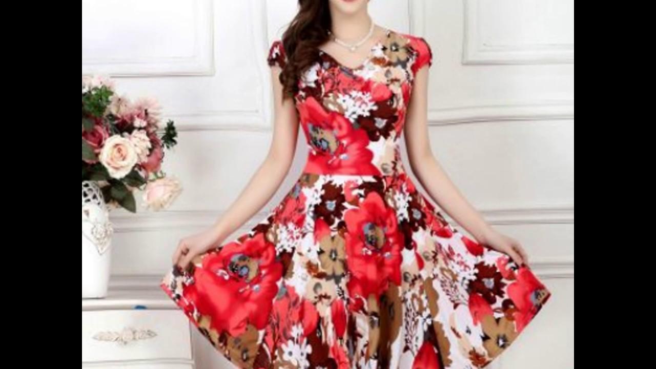 e6e4c6560 Vestidos estampados con flores - YouTube