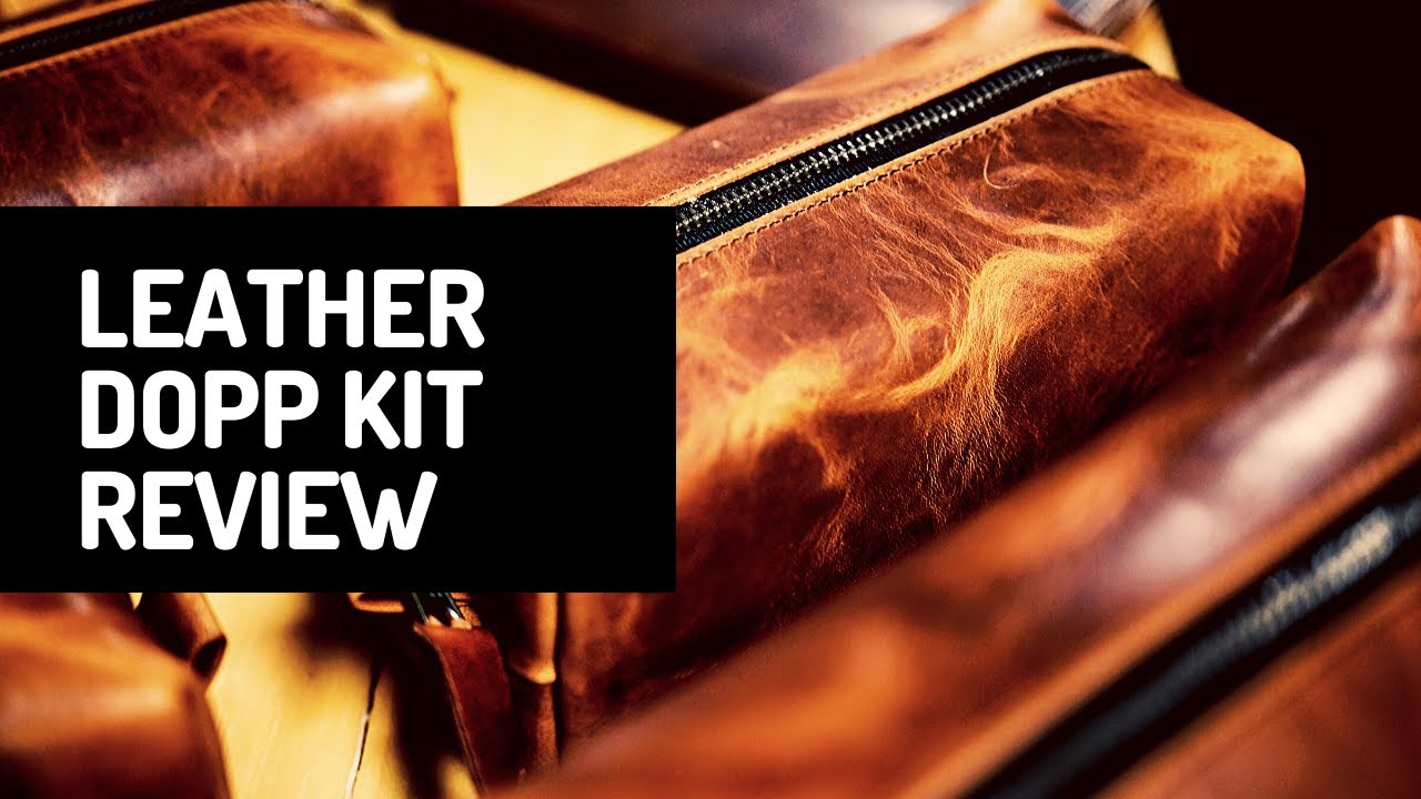 c924af853053 Chestnut Leather Dopp Kit - YouTube