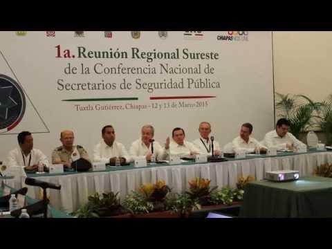 VIDEO 1a REUNION SURESTE SECRETARIOS DE SEGURIDAD