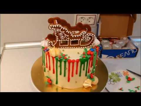 Как Украсить Торт На Новый Год Новогодний Торт Пряничный Декор