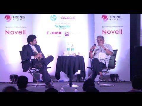 Anant Goenka in conversation with Manohar Parrikar at the 16th Technology Sabha, Goa