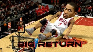 Derrick Rose Returns BIG Literally!   30 Feet Tall (Funny) NBA 2K17
