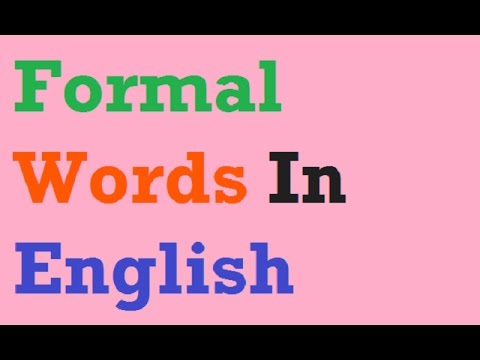 formal words in English