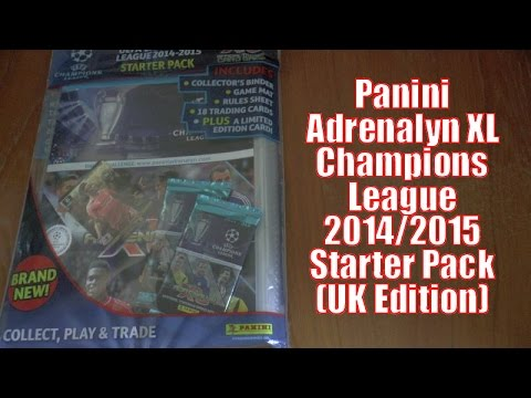 Adrenalyn xl champions league 2014 15 trading cards youtube