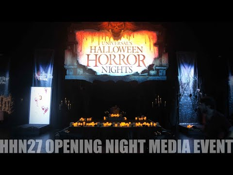 Opening Night Halloween Horror Nights 27 Universal Orlando Media Event