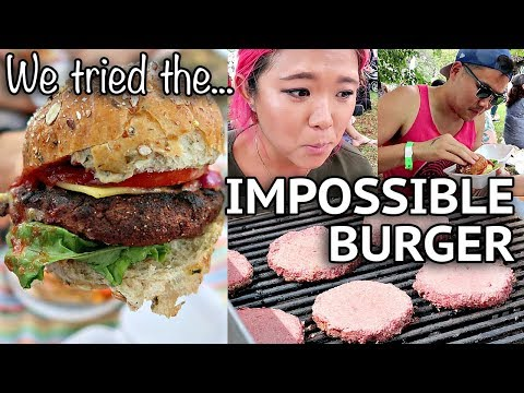 LIFELONG VEGETARIAN TRIES IMPOSSIBLE BURGER // Toronto Vegan Food & Drink Fest.