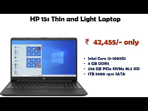 HP 15s Thin and Light Laptop (10th Gen i3-1005G1/4GB/256GB SSD + 1TB HDD/) du2067tu reviews