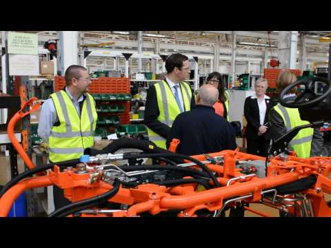 Chancellor of the Exchequer, George Osbourne, visits Ransomes Jacobsen in Ipswich.