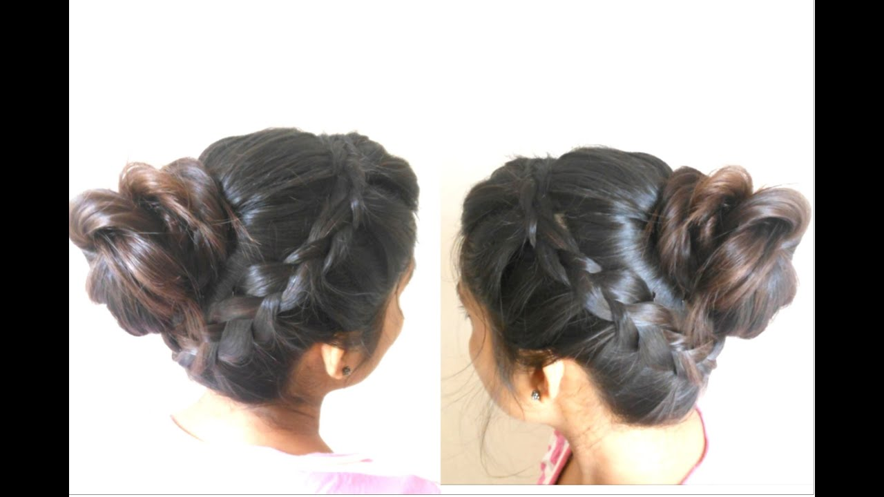 French Messy BUN Hairstyle ☆ Latest Bun HAIRSTYLES for Girls 2015