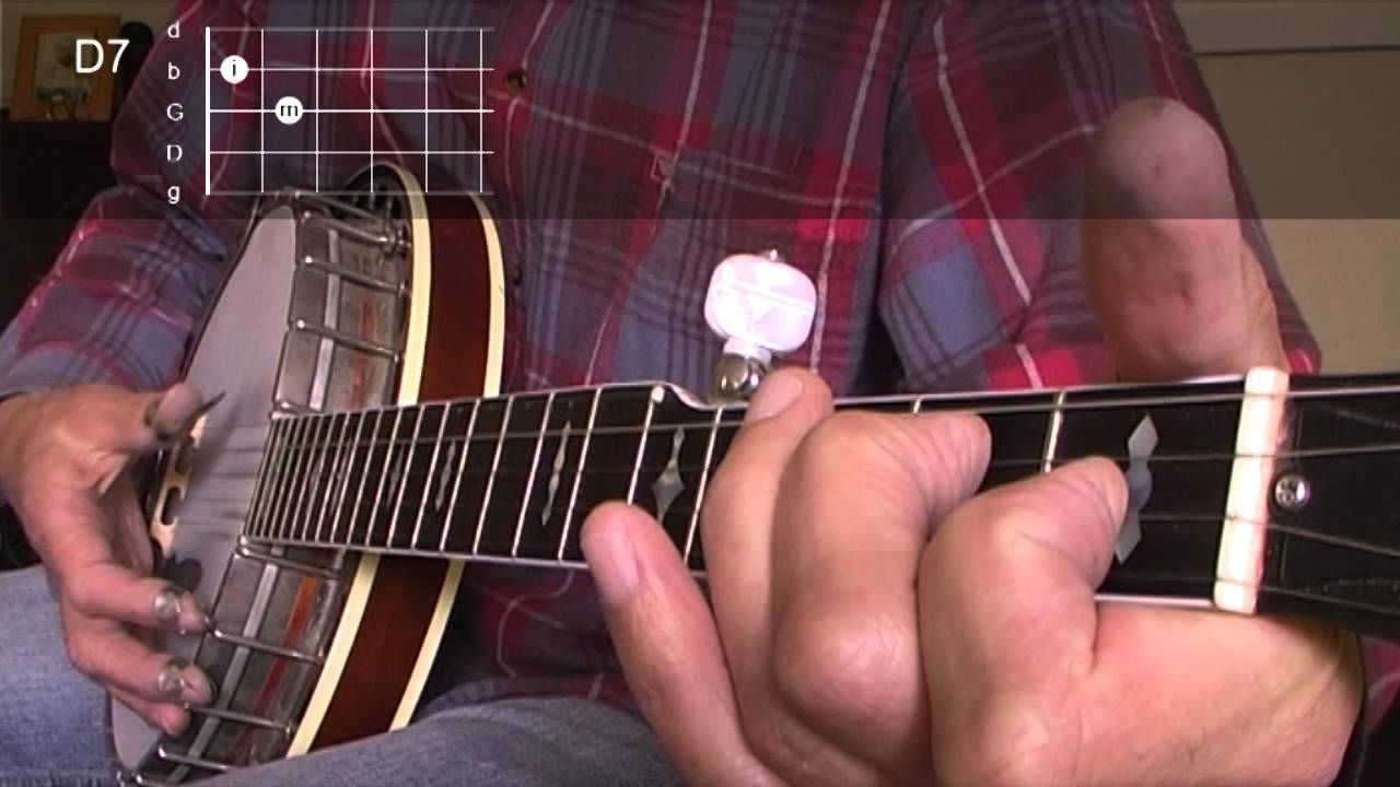 Beginning bluegrass banjo lesson 06 the d7 chord youtube hexwebz Images