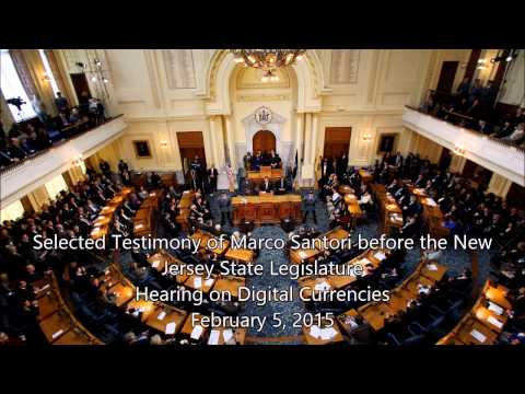 Marco Santori - Testimony Before New Jersey State Assembly