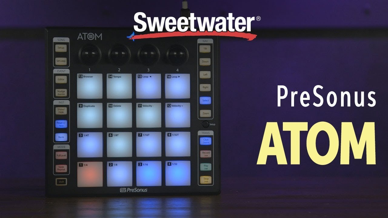PreSonus Atom Pad Controller Overview with KatFyr