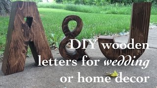 DIY wood letters for wedding or home decor