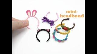 DIY Miniature Doll Mini Headband - Very Easy!