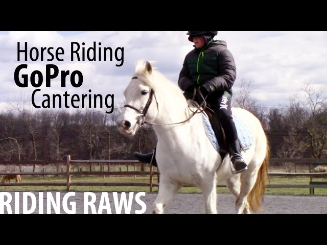 Boys Horse Riding Raws and GoPro Cantering