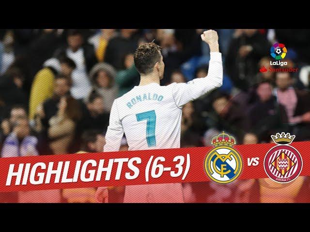 Resumen de Real Madrid vs Girona FC (6-3)