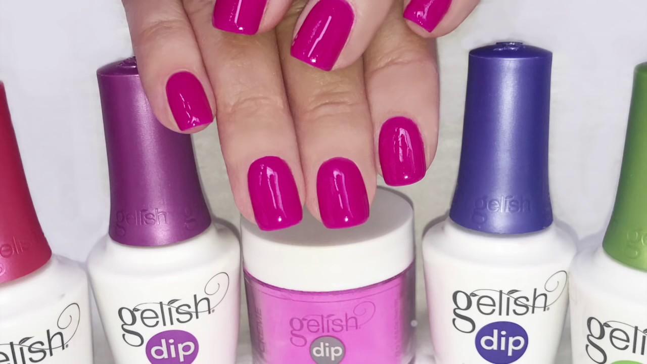 Gelish Acrylic Nail Dip - YouTube