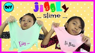 CARA MEMBUAT JIGGLY SLIME ♥ DIY JIGGLY SLIME WITHOUT BORAX