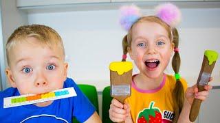 Alex y Gaby organizaron un divertido desafío de chocolate