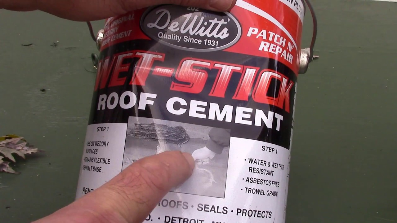 Tar A Wet Roof In The Rain With Dewitt S Wet Stick Roof Cement Youtube